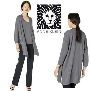 Anne Klein gray long cardigan. Sz Sm. Fits med too